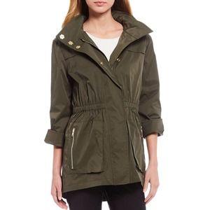 Antonio Melani Erin Green Hooded Trench Jacket XL